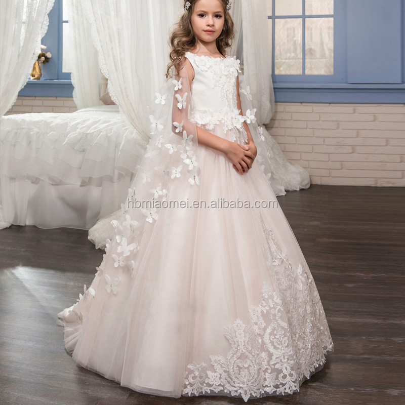 6baa3ee07c6c Cheap Price Princess White And Pink Dress Tulle Lovely Lace Flower Girl  Dress For Wedding With
