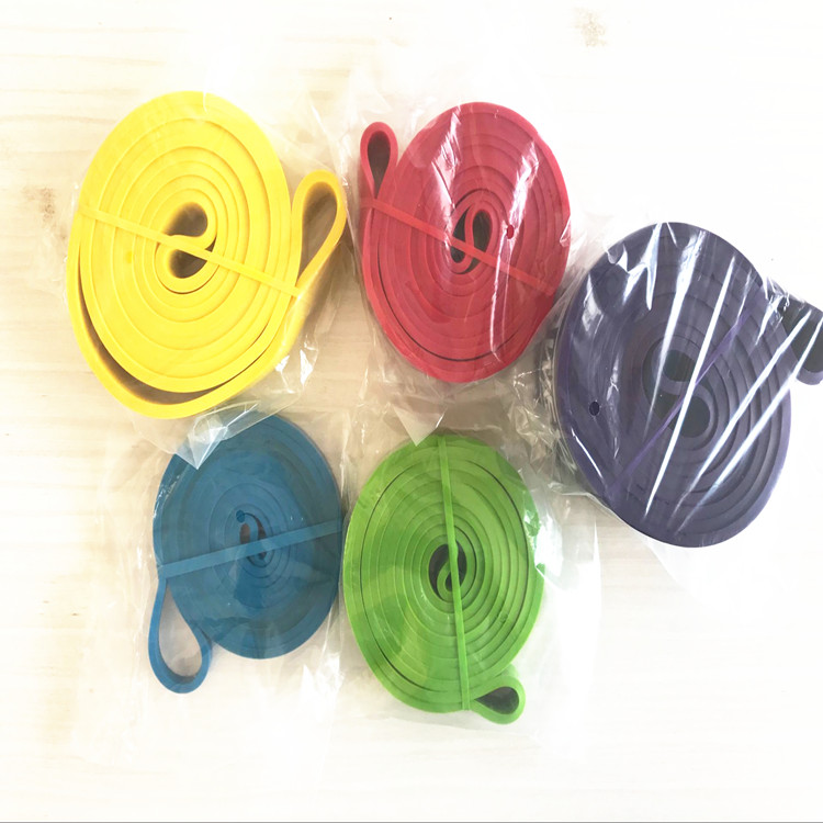 SGS REACH approved 100-300lbs light medium heavy rubber custom printed resistance bands
