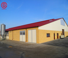 Prefab steel structure building/cowshed for poultry farm