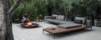 Luxus Garten Outdoor Tiefe Sitz Lounge Teak Gartenmöbel Grid Set
