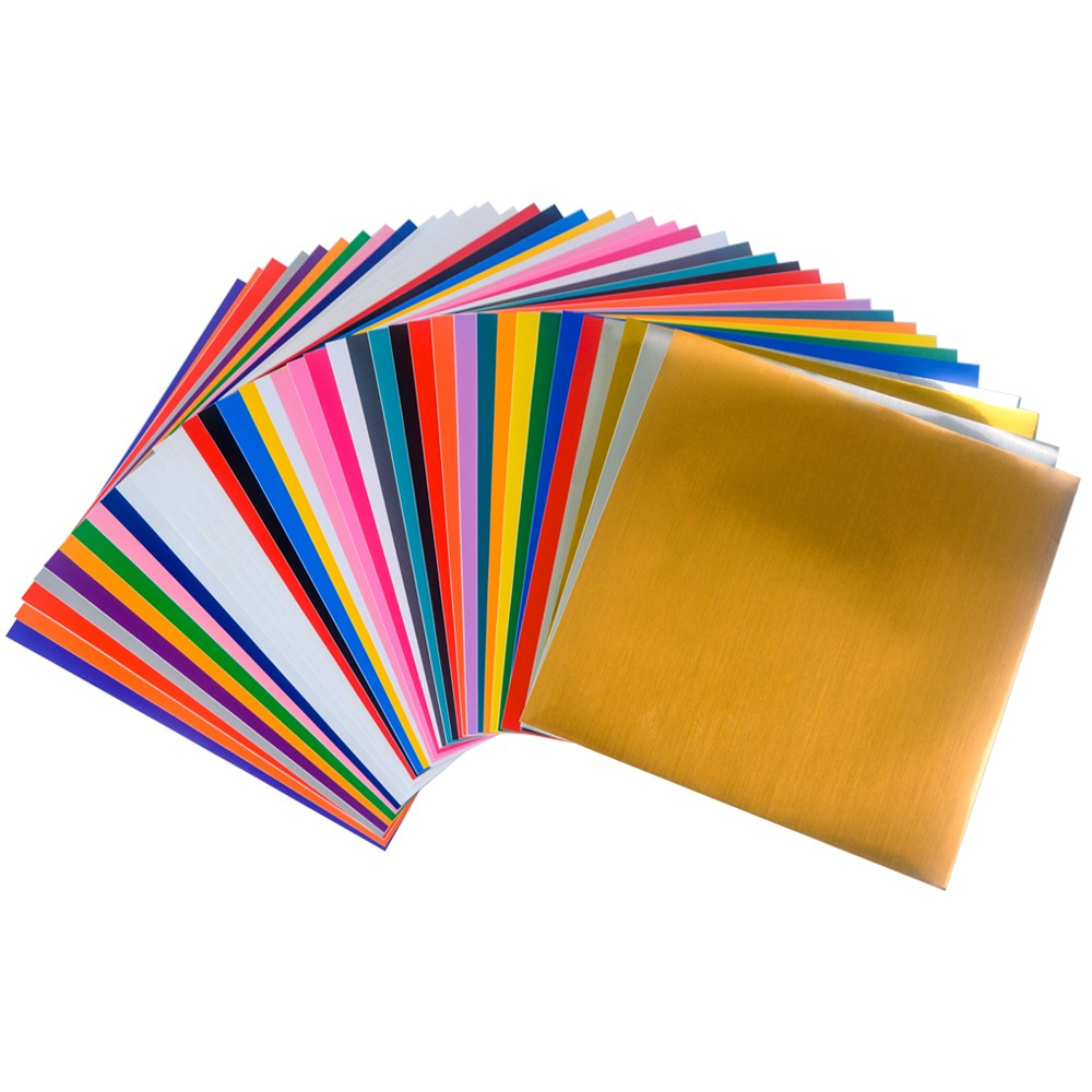 12 Inch Size Self Adhesive Sign Vinyl Sheets Colorful