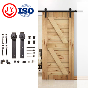 Factory Carbon Steel Barn Door Hardware Sliding Wooden Door Design Modern Interior Barn Door Hardware