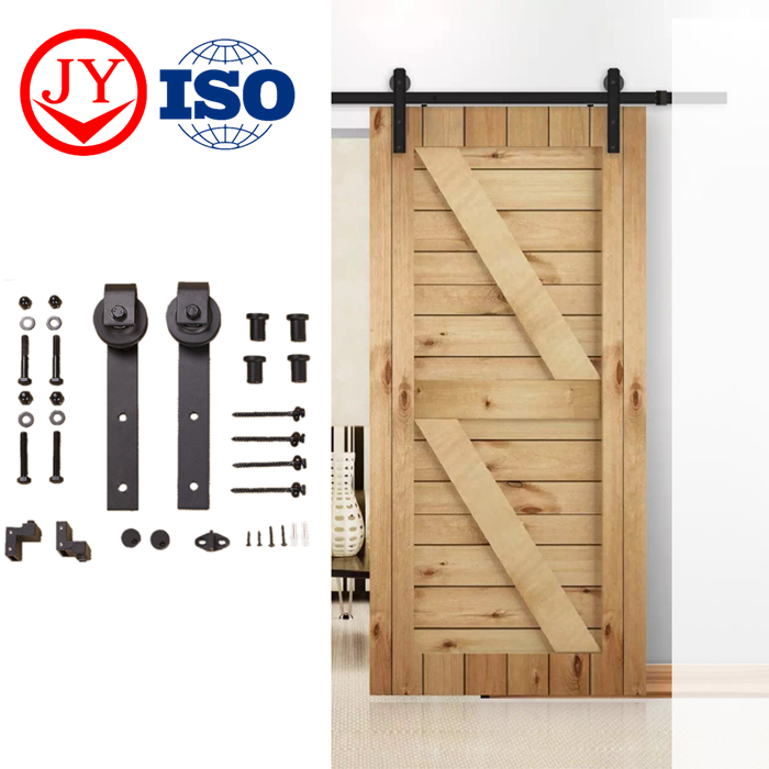 Factory Carbon Steel door hardware Barn Wooden Sliding Design Modern Interior barn Door