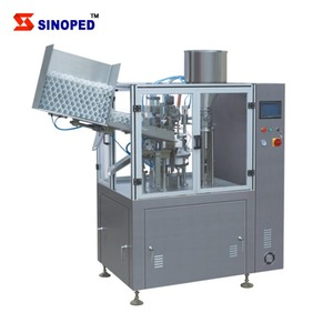 Plastic Tube Filler and Sealer / Automatic Tube Filling and Sealing Machine for cosmetic product