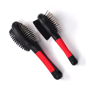 professional pet double Sided pin and bristle comb Brush for Dogs & Cats
