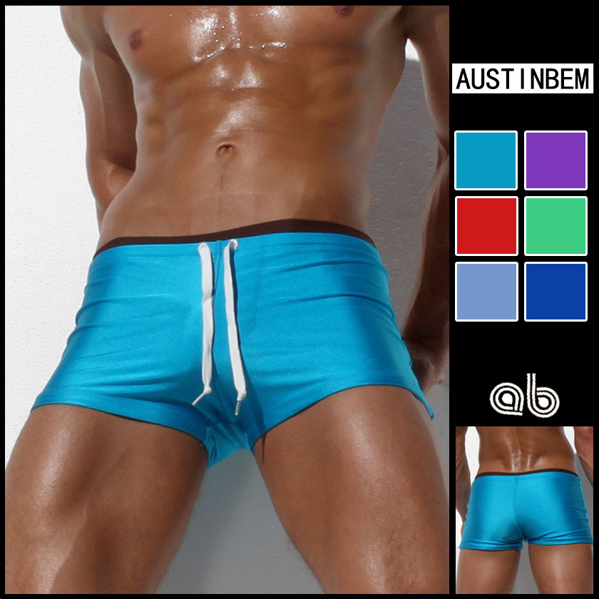 Free shipping men s brand AUSTINBEM Mens Swimwear Swimming Trunks for Man Swimsuits Swim Boxers Sexy