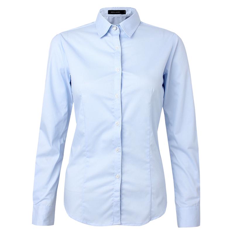 ladies white shirt fashion plain shirts formal shirt for