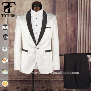 2016 High Quality Slim Fit Mens Wear Man White Wedding Suit With ...