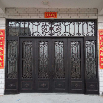 Modern Decoration Exterior Security Wrought Iron Main Double Front Entry Storm Doors Buy Double Entry Storm Doors Double Front Doors Exterior Double