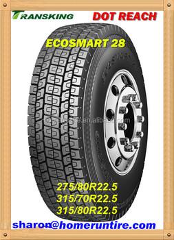 Dot Truck Tire 275/70r22.5 For Usa,Transking Ecosmart Truck Tires ...