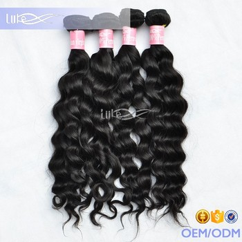 High quality 100% virgin peruvian loose wave natural curly hair straightening