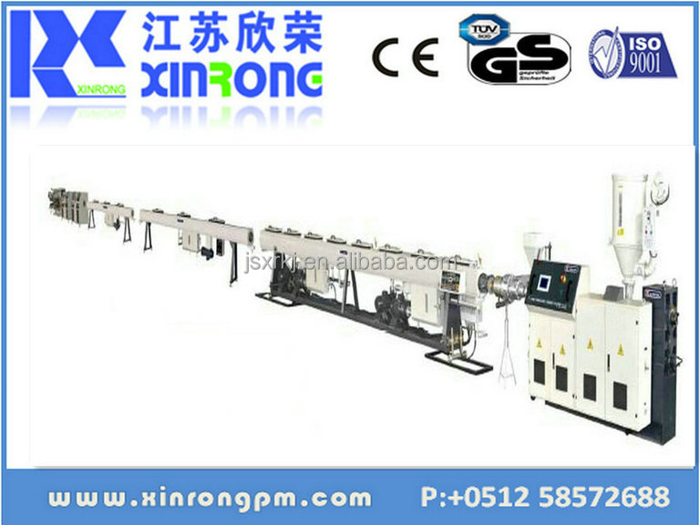 working machine shows anytime chending pe-rt high speed ppr pipe production line