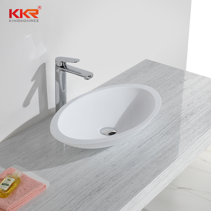 Kkr Small Size Artificial Solid Surface Stone Counter Vanity Top