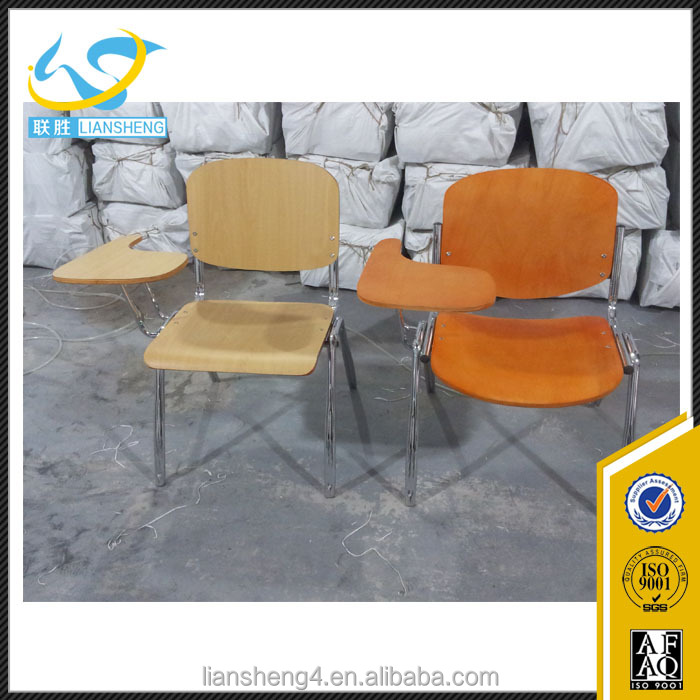 Plywood student chair for training, study chair with table for training, student chair with tablet arm for sale