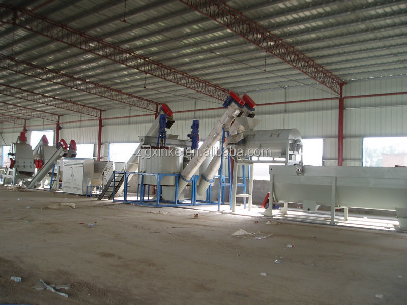 plastic PET bottle recycling crushing and washing & dewatering machine