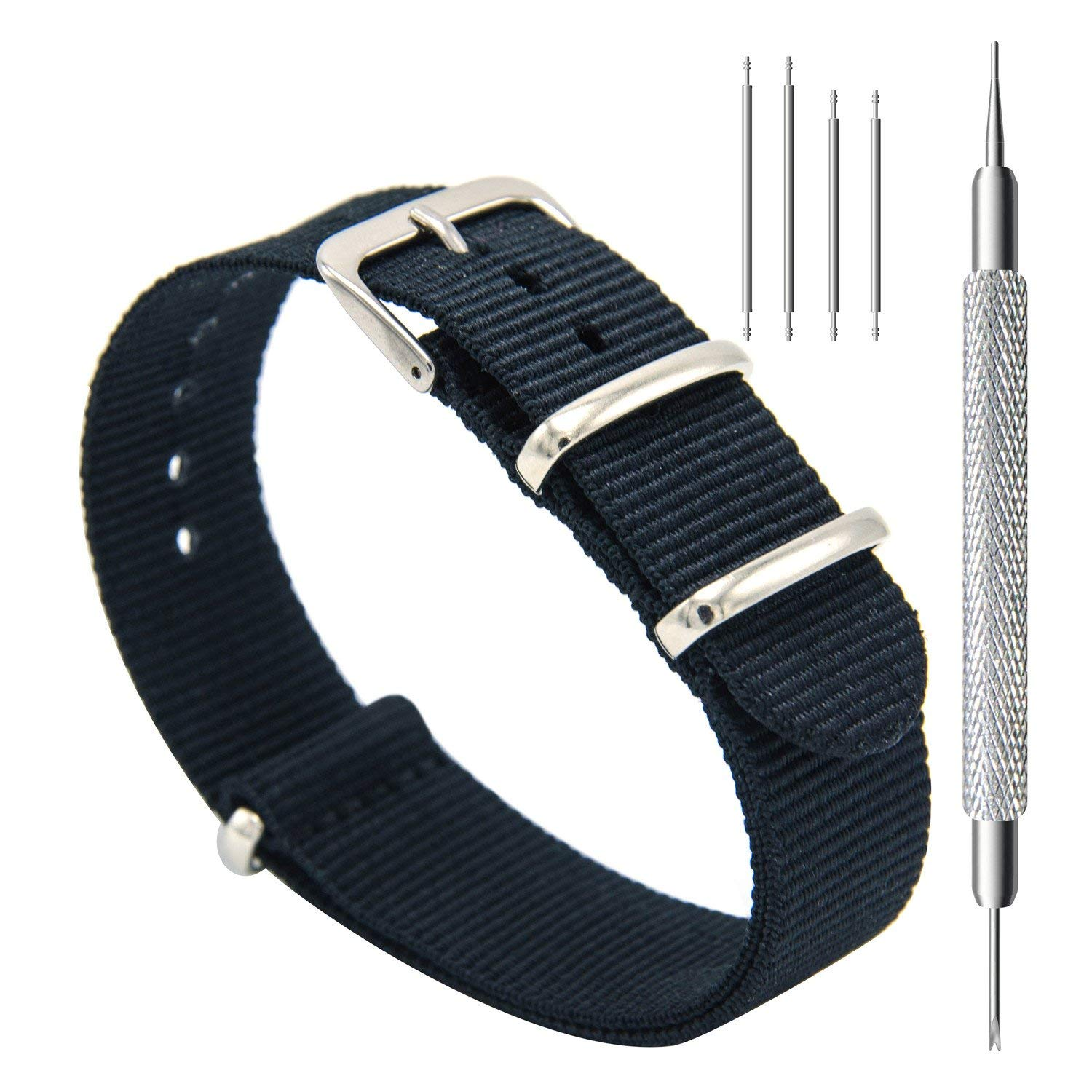 CIVO Watch Bands NATO Premium Ballistic Nylon Watch Strap Stainless Steel Buckle