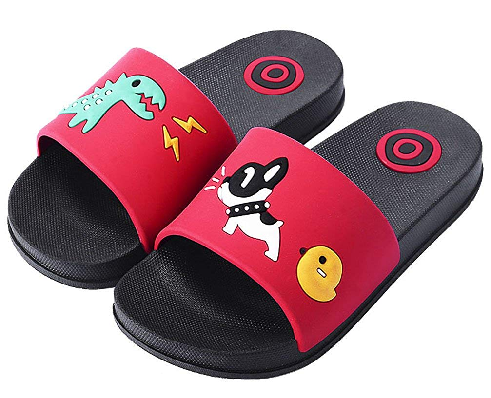 b8728cebd7c Get Quotations · HiEase Boys Girls Cute Cartoon Slide Sandals Anti-Slip  Bath Slippers Home Slipper (Toddler