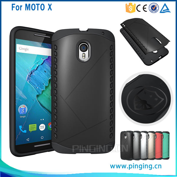 New Arrival Slim Armor Robot 2 in 1 Combo Shield case for Motorola Moto X, back cover for moto x play