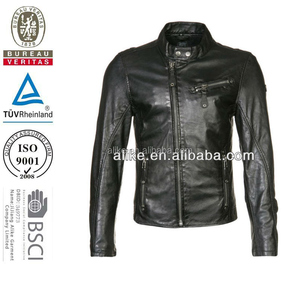 Wholesale Fashion Men Turkey Softshell Motocycle black Faux Leather Jackets