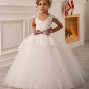 78082067197 Boutique Wholesale Kids Girl Dress Wedding Party Girls Ball Gown Sleeveless  Ruffles Tulle Bridesmaid Dresses