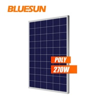 Best price PV supplier Bluesun poly 250watt 260W 270w 280wp photovoltaic solar panels for home