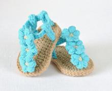 Free shipping Crochet Baby flip flop sandals baby Summer sandals CROCHET Baby Sandals with Little Puff
