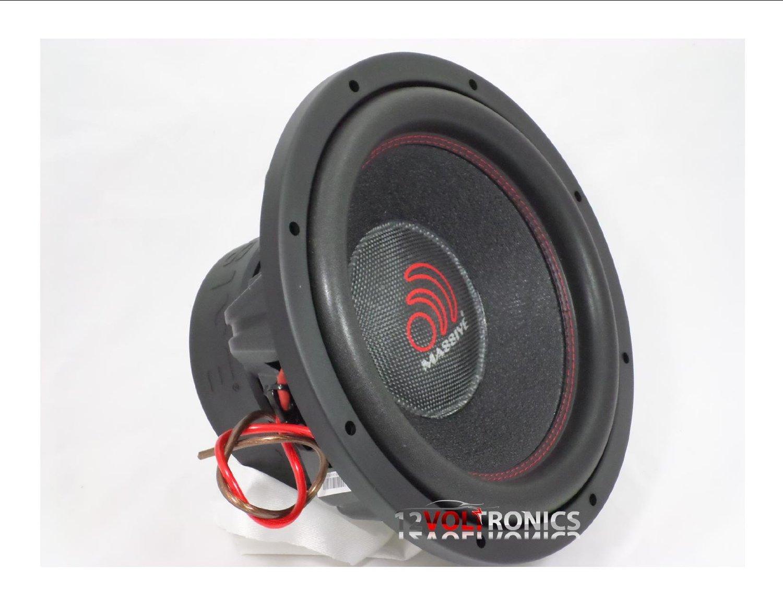 Massive Audio TOROX124 - 12 Inch Car Audio 2000 Watt TOROX Series Competition Subwoofer, Dual 4 Ohm, 3 Inch V.C