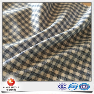 fancy yarn 100% cotton gingham double faced quilted fabric