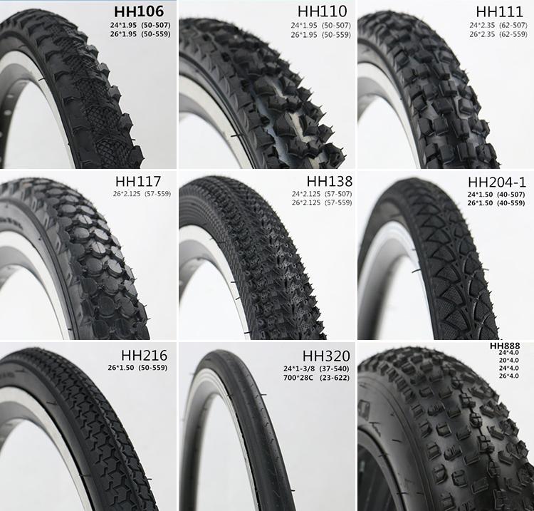 22 x 1.75//1.95 Black Rubber Bike Bicycle Inner Tube Tire
