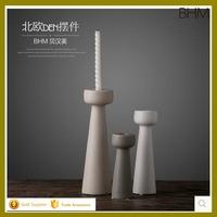2016 best selling matt ceramic porcelain tall candle holders for wedding