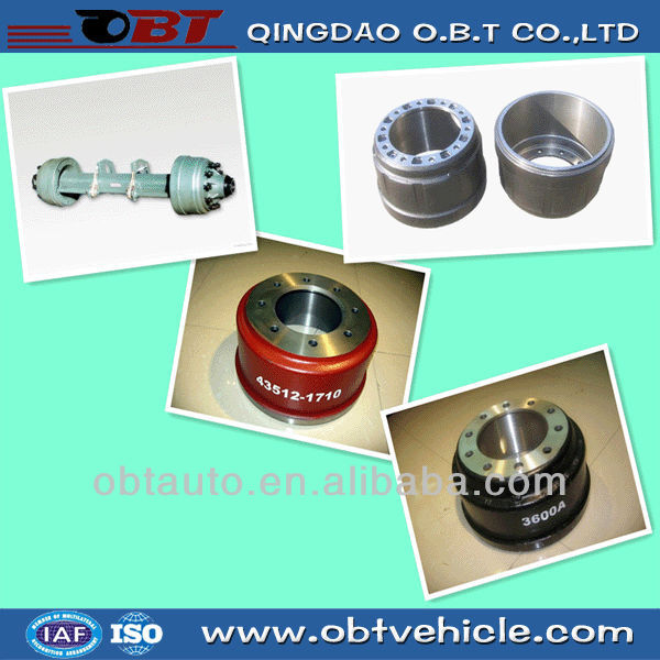 axle components brake drums for trailer