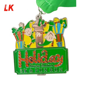 2018 best selling custom die cast award trophies for 5k10k medal
