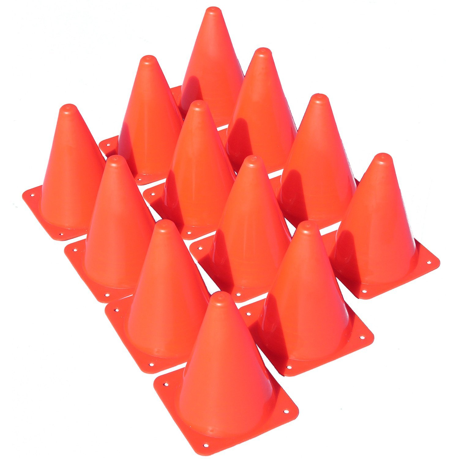 """0615dfd98 Get Quotations · Made4Sports 7 Inch Plastic Cones - Indoor/Outdoor 7""""  Flexible Sports Training, Agility"""