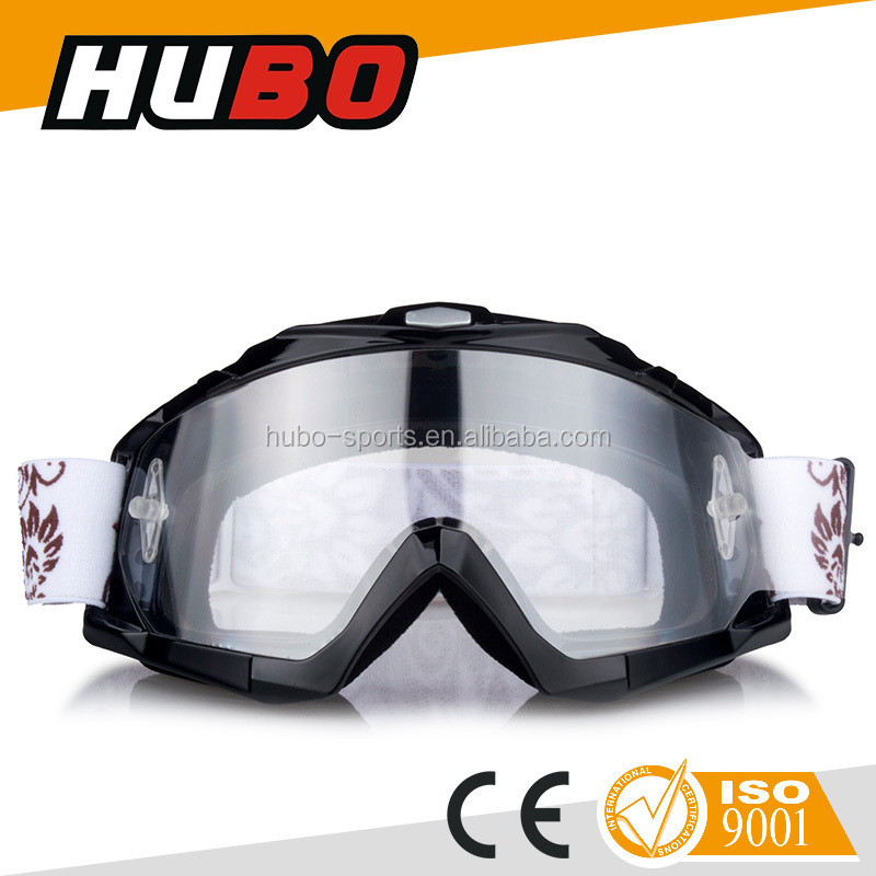 HUBO high quality motocross goggles with tear off racing atvs goggles