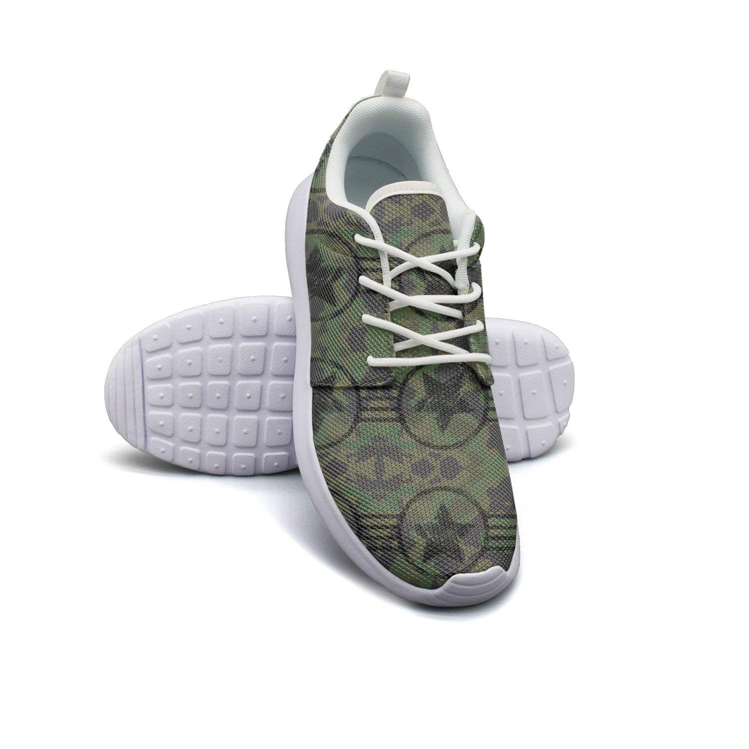 8d2b7bbe7f401 Get Quotations · ERSER Military American Camouflage Flag Breathable Running  Shoes Women