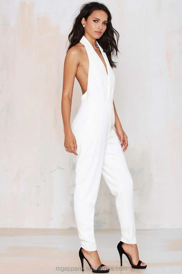 b3fd2c809cd 2015 Sexy Ladies Jumpsuit Elegant White Formal Tuxedo Jumpsuit - Buy ...