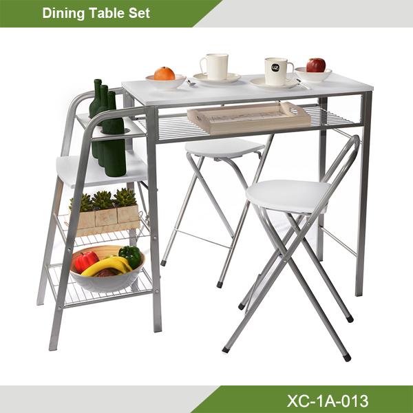 mesa y sillas plegables cocina desayunador