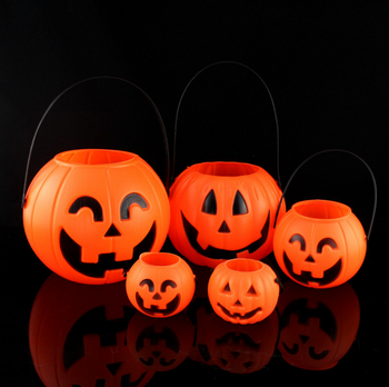 Eco Friendly Light Up Plastic Led Pumpkin Buckets