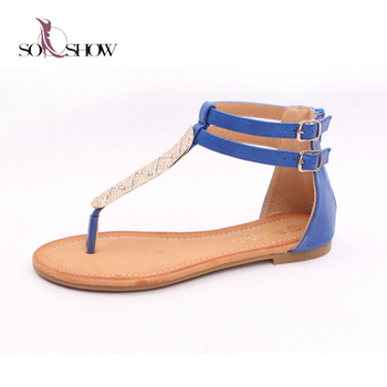 275599ec589 Best Selling Model Sandal 2018 Fancy Flat Sandals Women - Buy Fancy ...