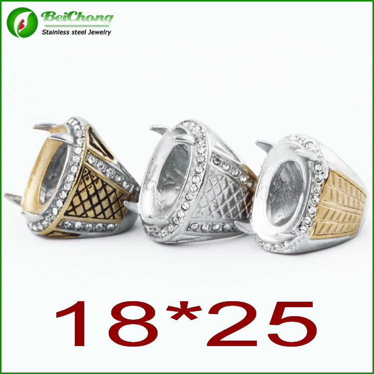 Mens Ring Mounts Without Stones