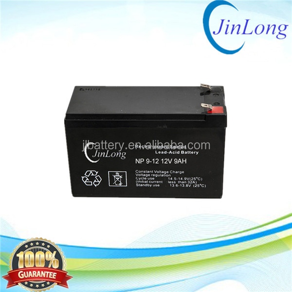 12v 9ah rechargeable ups agm storage battery with long service life