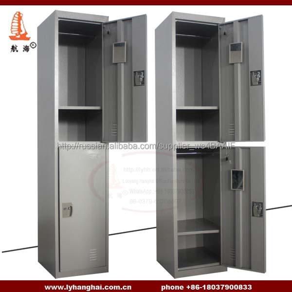 2 Doors Metal Clothing Lockers Practical Construction