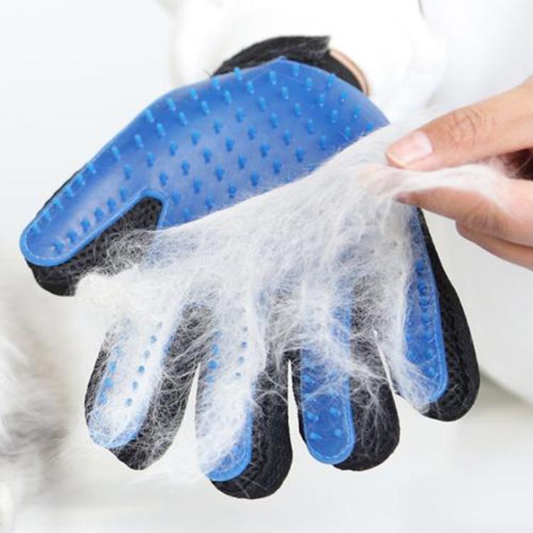 2-in-1 Waterproof Portable Hair Removal Pet Massage Glove,Pet Grooming Glove Brush