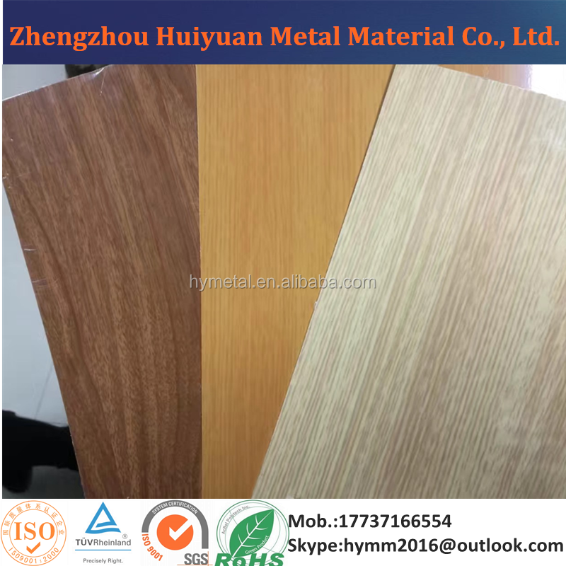 Decorative Wood Grain Color Coated Aluminum Sheet for Construction