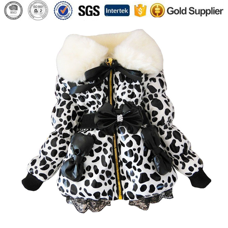 Baby parkas leather Winter kids Outerwear down Jacket girls coat