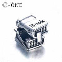 925 sterling silver fashion beads jewelry cartoon book cartoon beadings factory price