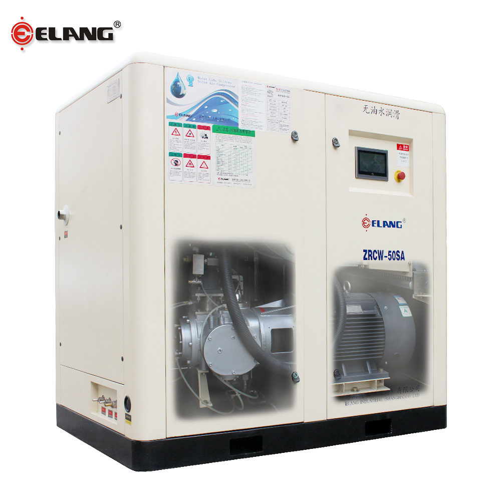 Oil free screw type silent air compressor 175 cfm for industrial machines