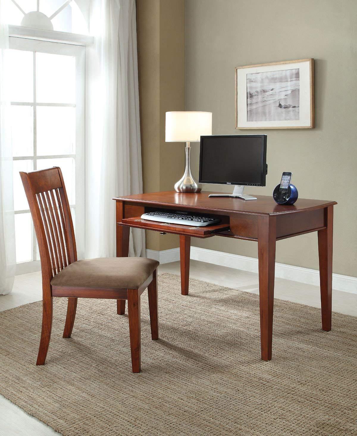 Major-Q Office Desk + Chair Set Oak Finish