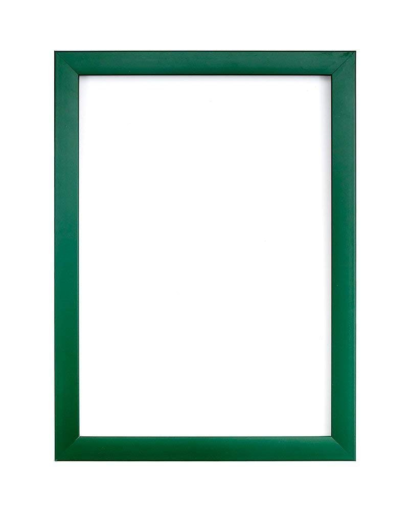 "FRAME Company Rainbow Colour Range Picture/Photo/Poster With A High Clarity Styrene Shatterproof Perspex Sheet & An MDF Backing Board 10""X8"" Green"