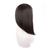 Natural hairline black kosher wig head human hair jewish wig